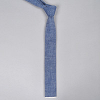the hill side - s57 001   selvedge chambray necktie indigo