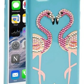 kate spade new york 'jeweled flamingo' iPhone 6 case