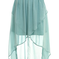 Light Green Drop Back Skirt - Skirts  - Apparel  - Miss Selfridge US