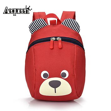 AEQUEEN Cute Little Bear Children Backpack Lovely Cartoon Animal School Bags For Boys Girls kindergarten bag baby bags Rucksack