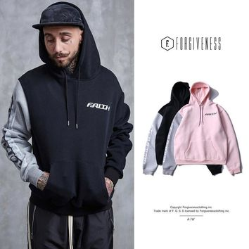 Couple Hoodies Winter Patchwork Long Sleeve Hats [10895414915]