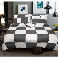 6 Piece Queen Comforter Set Check Charcoal by Shangri La