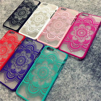 Brand New Beautiful Floral Henna Paisley Mandala Palace Flower Phone Cases Cover For iPhone 7 7plus 5 5s SE 6 6s Plus 6Plus Capa