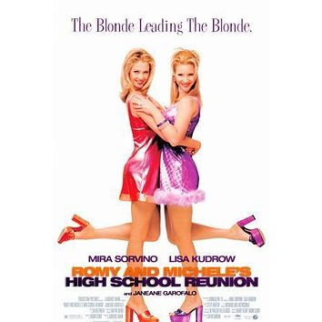 Romy and Michele's High School Reunion Movie poster Metal Sign Wall Art 8in x 12in