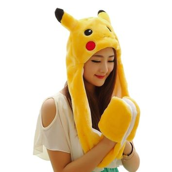 Animal Cap With Long Scarf and Gloves 3 in 1