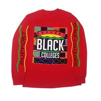"By Kiy Online — Originals ""Support Black Colleges"" Long Sleeve Tee (Red)"
