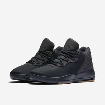 Nike Jordan Men's Jordan Academy Basketball Shoe Black Anthracite Gum Medium Brown 011