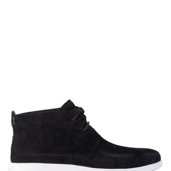 UGG Mens Black Suede Freeman Chukka Desert Ankle Boots