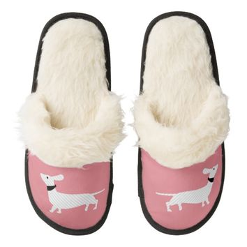 Chic Pink Dachshund Slippers