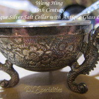 Amazing Wang Hing Silver Extremely Rare 19th Century Salt Cellar