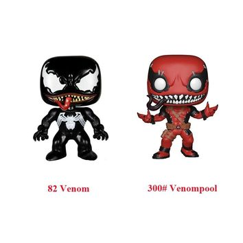 Movie Avengers Spiderman Venom VS Venompool Red 300# Champions Black Venom Action Figure Vinyl Doll Model Toy for Collection