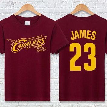 PEAPGC3 LeBron James T Shirts Cotton Short Sleeve O-neck mens T-shirts Fashion Hip Hop Tee Shirt men Tops Brand t shirt homme