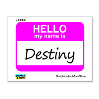 Destiny Hello My Name Is Sticker