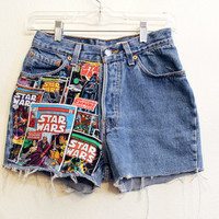 Star Wars High Waisted Shorts 25 inches button fly