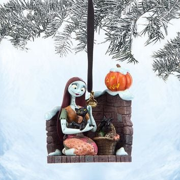 Licensed cool 2014 Nightmare Before Christmas SALLY CAT Pumpkin Holiday Ornament Disney Store