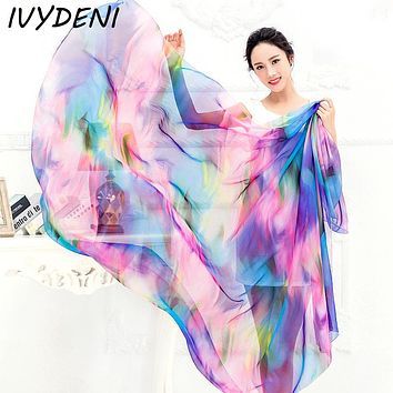 200x140cm Beach Shawl  Women Chiffon Wrap Pareo Sarong Dress Beach Bikini Scarf Beach Cover Up Scarves