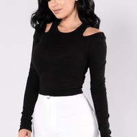 Like You Don't Love Me Sweater - Black
