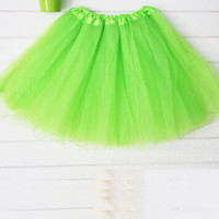 Candy Color Petticoat Tutu Skater Skirt