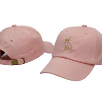 Drake OVO CLASSIC GOLD OWL Pink SNAPBACK Caps Casquette OVO CORE COLLECTION HATS STRAPBACK SPORT CAPS Baseball Cap PP
