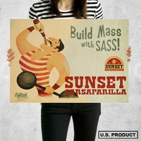 Poster Print Sunset Sarsaparilla Fallout New Vegas Wall Decor Canvas Print - halawatani.com