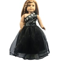 "Ebuddy  Sexy Black One Shoulder Dress for 18"" American Girl Doll Clothes:Amazon:Toys & Games"