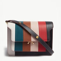 MARNI Trunk striped leather cross-body bag