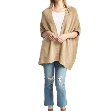 Open-front batwing cardigan | Gap