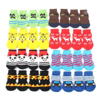 OB Small Pet Dog Doggy Shoes Lovely Soft Warm Knitted Socks For S-XL