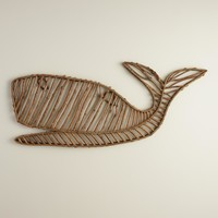 Whale Twig Wall Décor