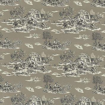 Kasmir Fabric Grand Toile Pewter