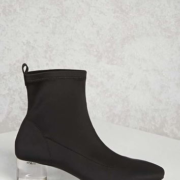 Lucite Sock Ankle Boots