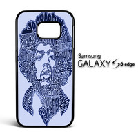 Jimi Hendrix Song Titles Collage Samsung Galaxy S6 Edge Case