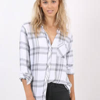 Rails Hunter Button-Down - White/Charcoal