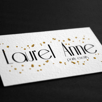 Pre-Made Black and Gold Confetti Party Events Planning Accessories  Photography Jewelry Any Business Shop Logo