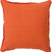 Solid Throw Pillow Orange