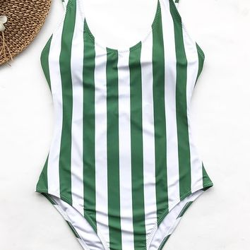 Cupshe Beauty Of Nature Stripe One-piece Swimsuit