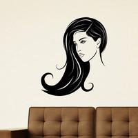 Wall Decal Vinyl Sticker Beauty Girl Hair Salon Spa Decor Sb481