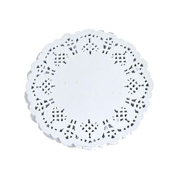 Round Paper Lace Doilies, White, 4-1/2-Inch, 60-Count