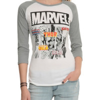 Marvel Avengers Group Girls Raglan
