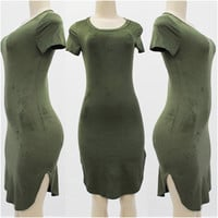 Suede Tshirt Dress