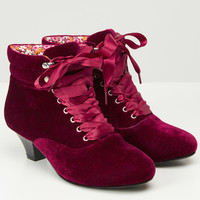 Very Velvet Ankle Bootees