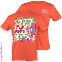 Girlie Southern Sand in Your Soul T-Shirt on Coral