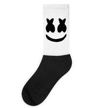 marshmello Black Logo Socks