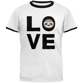 LMFCY8 Sloth Love Series Mens Ringer T Shirt