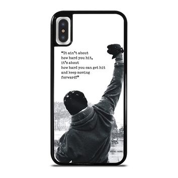 ROCKY MOTIVATIONAL QUOTES iPhone X Case