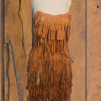 fringe dress by saravah on Etsy