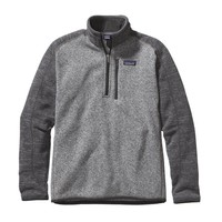 Patagonia Men's Better Sweater® Quarter Zip Fleece | Nickel w/Forge Grey