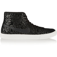 Nike - Primo Court leopard-print suede high-top sneakers
