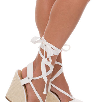 Corynne Wedge - White