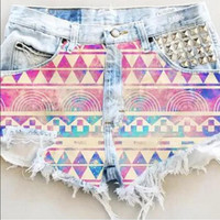 Sexy Women Girl Summer High Waist Ripped Hole Wash Denim Jeans Shorts Pants = 4721408708